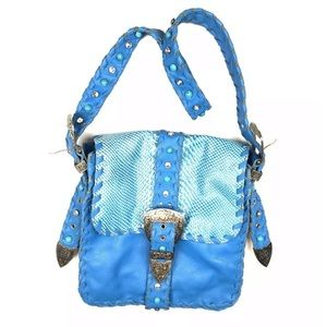 charm and luck Bags - Cowgirl western buckle cowgirl bag purse leather